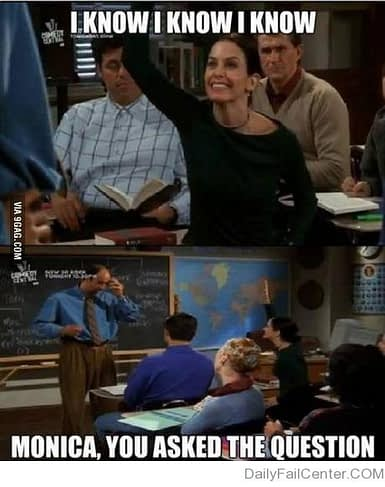 Monica from friends meme