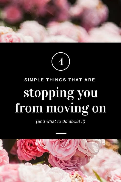 4 very simple things we hold onto after a breakup that can hinder us from getting over him and moving on.