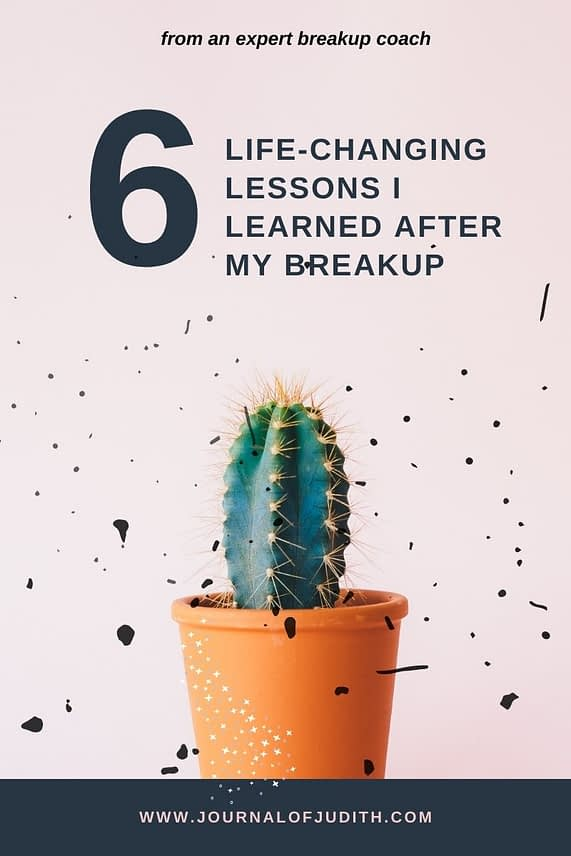 6 life-changing lessons I learned after my breakup poster